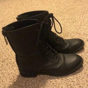 Black BONGO Combat Boots